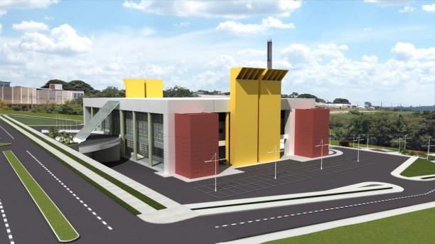 Projeção da obra do Centro de Eventos, vista parcial