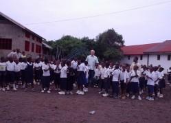 Professor Gilmar Tavares em projeto desenvolvido na andamento na República Democrática do Congo