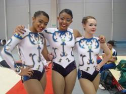 Participação destacada: estreando em competições internacionais, o trio infanto chegou à quarta colocação