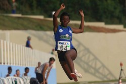 Pamela Simão: insuperável no salto em distância
