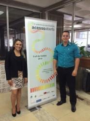 Simone Medeiros e Nivaldo Oliveira participaram da 5ª Conferência Luso-Brasileira sobre Acesso Aberto