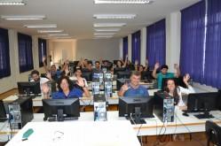 Participantes do Workshop de Criação de Apresentações com Prezi