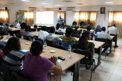 Professor Antônio Fraga ministra aula em Moçambique
