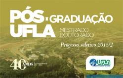 UFLA anuncia seleção para 18 programas de Pós-Graduação – São 196 vagas para 2015/2