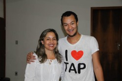 Profª Maria Cristina e Lucas Freitas