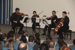 O quarteto, composto pelos renomados músicos da Orquestra Filarmônica de Minas Gerais