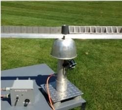 Protótipo da máquina capaz de medir a intensidade da chuva e velocidade das gotas