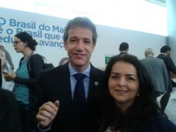 A professora Joziana também esteve com o ministro da Saúde, Arthur Chioro.
