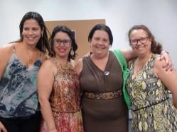As professoras Flaviane Avela; Sayonara Ribeiro; Ivani Fazenda; Elaine Frade em evento na PUC-SP