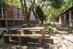 Detalhe da área externa da Moradia Estudantil