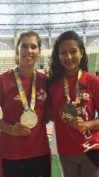 Mariela de Abreu e Stefânia Tavares (esquerda a direita)