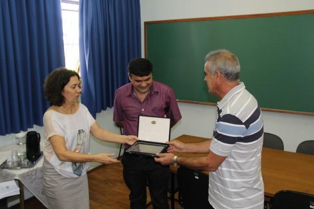 professora Fátima, professor Júlio Nóbrega e professor Moacir