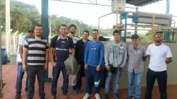 Turma da capacitação em Recursos Hídricos visita a Estação de Tratamento de Esgoto.
