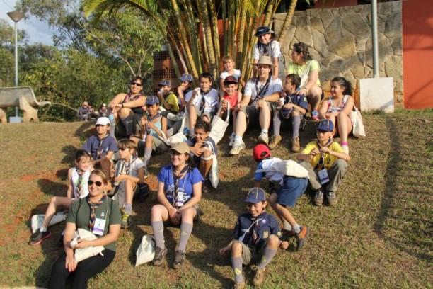 O Grupo Escoteiro Acauã marco presença na Primeira Caminhada Ecológica.