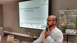 O coordenador de pesquisas e serviços em gestão do CIMUFLA, Diego Humberto de Oliveira, falou sobre os custos de produção do café