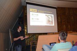 Professor Mateus Gionbelli, durante apresentação de temas relacionados à sua pesquisa na 3ª Edição do Sistema BR-CORTE