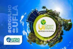 Ranking GreenMetric: UFLA está novamente entre as universidades mais sustentáveis do mundo