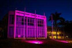 Outubro Rosa na UFLA conta com iluminação especial no câmpus – ações serão realizadas na próxima quinta (26)