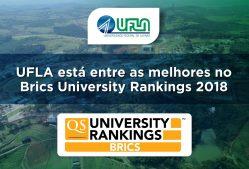 UFLA está entre as melhores no Brics University Rankings 2018