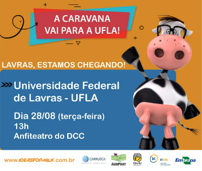 Arte de divulgação do evento Ideas for Milk 2018